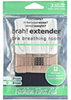 Fashion First Aid Women's Brah Extender Bra Breathing Room 3 Hook 3 Pack