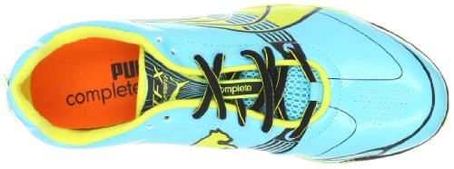 Puma Kvinna Komplett Tfx Sprint 3 Löparsko Blå Curacao / Fluorescerande Gul / Svart