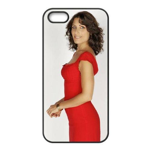 Lisa Kaddi Dr. House Tv Series House Md coque iPhone 5 5S cellulaire cas coque de téléphone cas téléphone cellulaire noir couvercle EOKXLLNCD25587