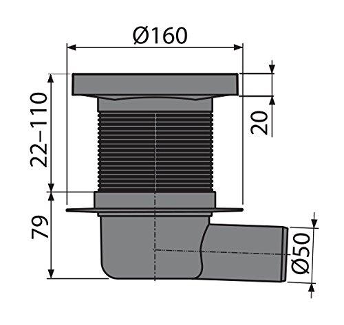 Bodenablauf 150x50 Waagerecht Edelstahl extra flach Duschablauf Badeablauf