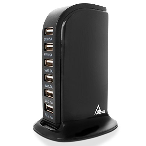 Multiple USB Wall Charger, AMZ digital 6 Ports USB Charging