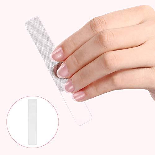 Nail File Crystal Nail Files Glass Nail files with Travel Case Professional Manicure Nail Care Natural Nail Buffering Files Washable Nano Nail File