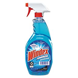 Windex Powerized Glass Cleaner with Ammonia-D, 32 oz. Trigger Spray Bottle (3 Bottles) - BMC-DRA 90135EA