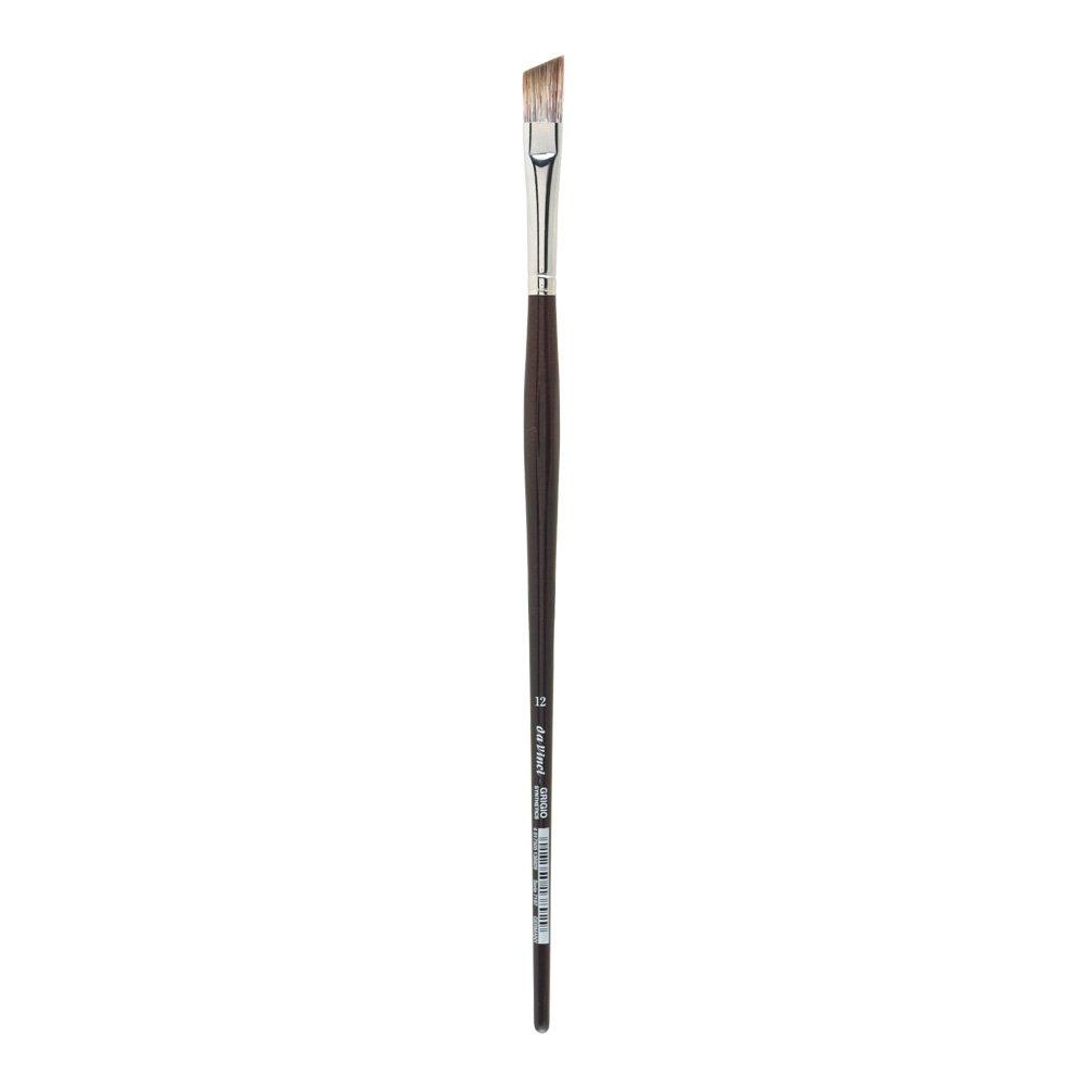 da Vinci Oil & Acrylic Series 7197 Grigio Paint Brush, Slant Synthetic with Bordeaux Ergonomic Handle, Size 12 by da Vinci Brushes