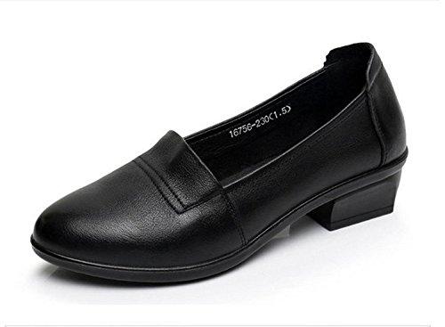 KPHY-Kuh - Frauen einzelne Schuhe Mutter Schuhe Leder Frauen einzelne Schuhe komfortable weichen Boden Arbeit echtes Leder alte Schuhe