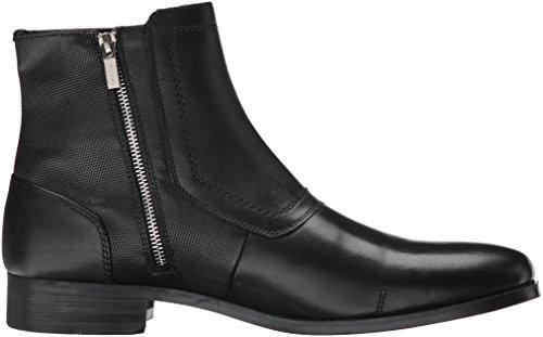 Calvin Klein Men's Stark Leather Boot, Black, 13 M US
