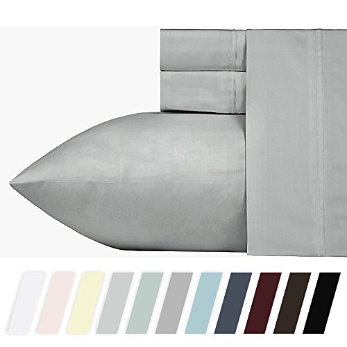 400 Thread Count 100% Cotton Sheet Set, Smoked Pearl Queen S