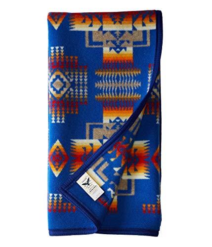 Pendleton Chief Joseph Crib Blanket, Blue
