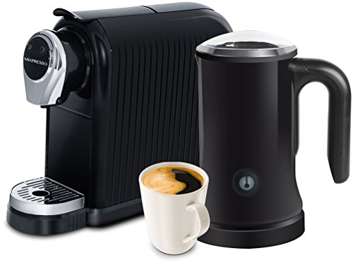 MiXPRESSO Cappuccino and Espresso Maker | Nespresso Compatible Capsules – Black