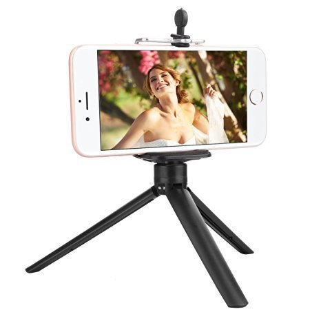 MaCro-F Mini Selfie Phone Tripod Stand iPhone Tripod with Universal Clip for Cellphone Video Camera Webcam