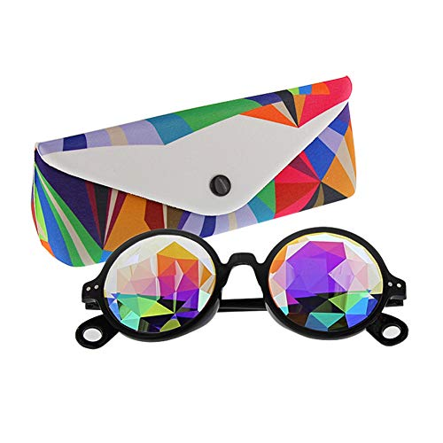 TOPERSUN Rave Glasses Kaleidoscope Glasses Prism Glasses Used for EDM Party