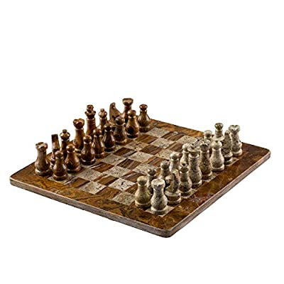 """Marble Chess Set - 12"""" by 12"""" 