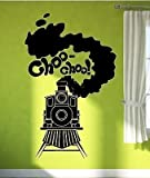 Wall Sticker Vinyl Decal Train Railway Steam Locomotive for Kids Room VS1900