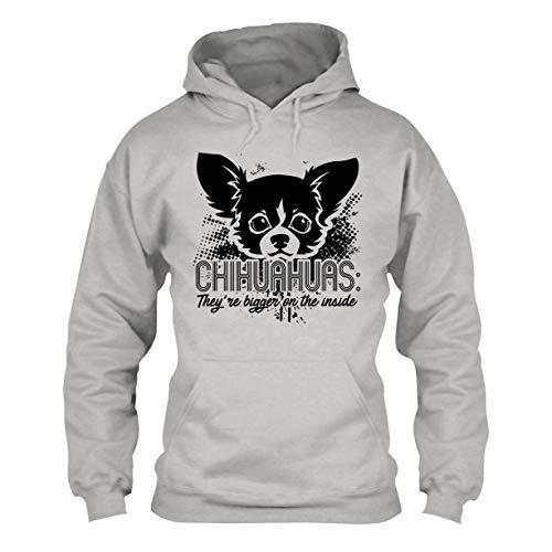 Chihuahua Bigger On Inside Cool Unisex Hoodie, Hooded Sweatshirt Ash,L