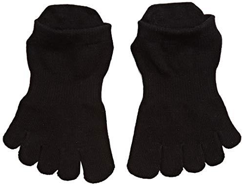 (ToeSox Women's Grip Full Toe Bellarina, Black, Small)