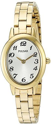 Pulsar Women's Quartz Gold-Toned Dress Watch (Model: - Gold Watch Pulsar Wrist