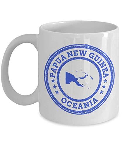 Papua New Guinea travel stamp passport Oceania novelty gift idea holiday for women men wife husband coworker friend birthday coffee mug 11 oz