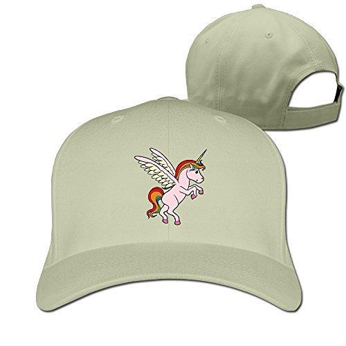 Colorful Cartoon Animal Unicorn Unisex Snapback Hat Trucker Cap Natural One Size