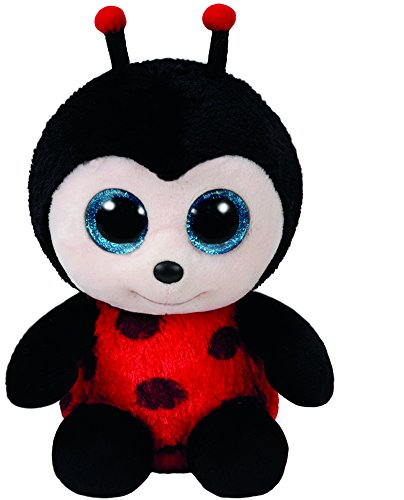 Stuffed Ladybug - Ty Beanie Boos Izzy - Lady Bug Reg Plush