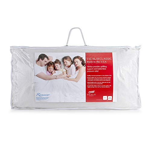RejuveNite Original Premium Talalay Latex Firm Restora Pillow Now The Talalay Classic High Profile Pillow for Sidesleepers- King