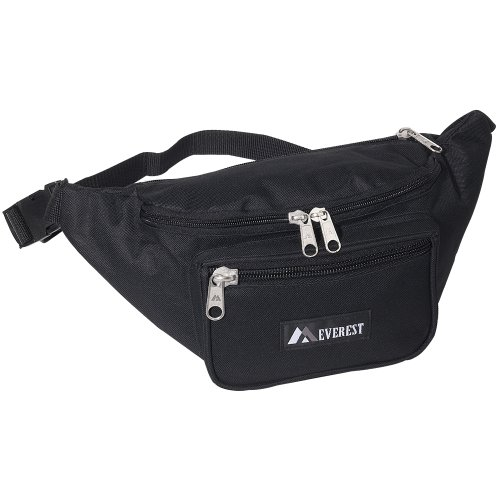 Everest Signature Waist Pack - Large, Black, One Size