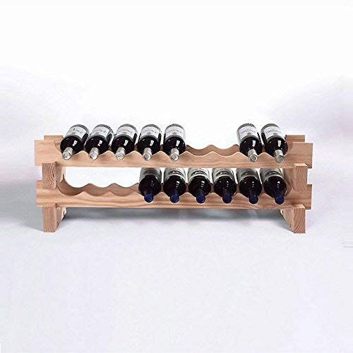 Wine Enthusiast 640 03 18 Bottle Stackable Wine Rack Kit, Natural