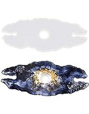 Nifocc Wijnrek siliconen vorm onregelmatige kristal epoxy wijnglazen dienblad houder hars vorm voor thuis keuken winkel bar tafeldecoratie