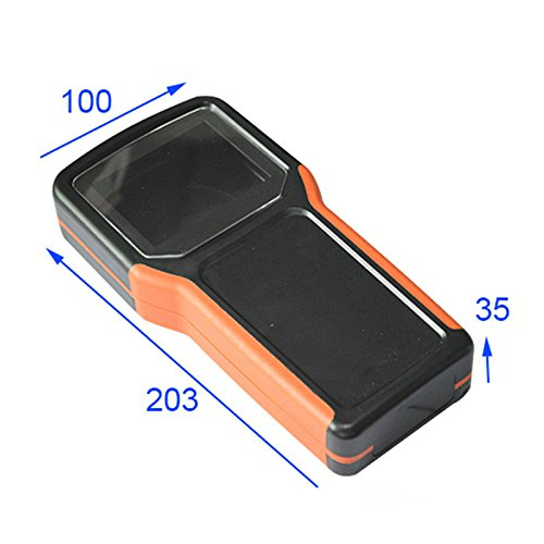 Handheld Lcd Remote - ABS Junction Box Hand-held Plastic Electronics Diy Remote Control Housing LCD Screen 5xAA Battery Holder Case Black Orange Color 20310035mm(LWH)