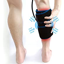Inflatable Air Compression Gel Wrap For CALF Pain Relief. Reusable Cyro Cold Therapy Is Colder Than Ice For Long Last Pain Relief From Spasms, Swelling And Sore Muscles. Pneumatic Compression Wrap