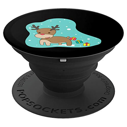 Christmas Reindeer Gifts Art - Great Xmas Santa's Helper - PopSockets Grip and Stand for Phones and Tablets