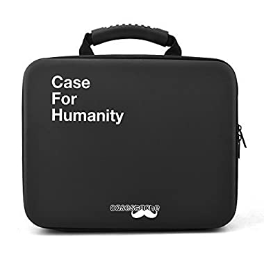 CaseStache Case for Humanity Card Game Case and all Expansions, Extra Large - Black