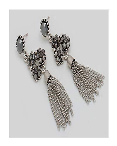 Linda Fashion Smoky Chain Tassel Earrings