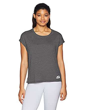 Skechers Women's Cropped Drap Short Sleeve Tee