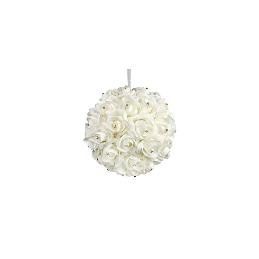 Galt-International-10-Inch-White-Flower-Pomander-Kissing-Ball