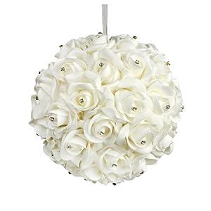 Galt International 10-Inch White Flower Pomander Kissing Ball 12