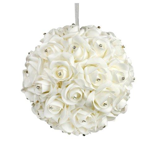 Galt International 10-Inch White Flower Pomander Kissing Ball