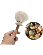 Jadpes Pluma de Barrido Gris de Arte cerámico hidratante, Cepillo de Limpieza de Arte de cerámica Herramienta de Modelado de Cepillado de cerámica de Arcilla de Bricolaje(Medium)