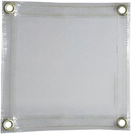 Tillman 605C66 6 X 6 16 mil Clear Vinyl FR Curtain with Grommets al