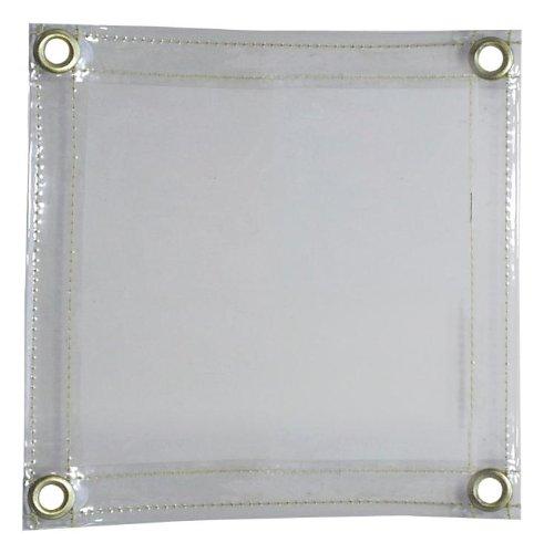 Tillman 605R68 6' X 8' 16 mil. Clear Vinyl FR Curtain with Grommets al
