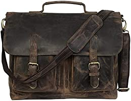 The Leather Artist genuine leather laptop bag