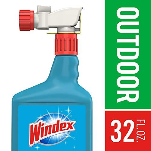 Windex Concentrate Glass Cleaner - Windex Outdoor Sprayer, Blue Bottle, 32 fl oz