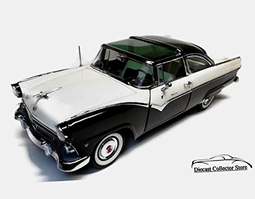 DANBURY MINT 1955 Ford Crown Victoria Diecast 1:24 Scale Black/White MIB Title ()