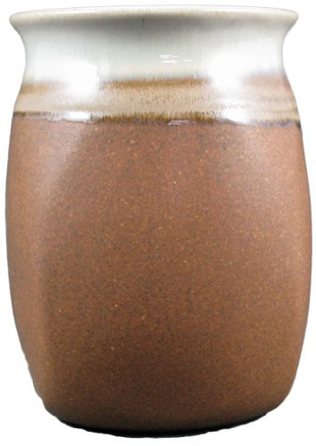 Creative Structures PRADO STONEWARE COLLECTION - Collectible Kitchen Utensil Accessory Jar/Caddy/Holder - Rustic Brown
