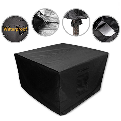 Square Outdoor Furniture Cover Durable Patio Table and Chair Cover Rattan Wicker Furniture Cover Water Resistant (49
