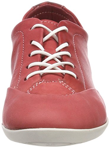 de Cordones Zapatos Softinos Rot Mujer Washed Red Ops421sof Oxford para AwUqavUT