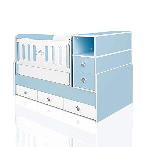mitwachsendes babybett kleiner prinz inkl wiege wickelkommode 5 schubladen bettmix. Black Bedroom Furniture Sets. Home Design Ideas