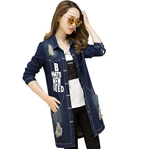 Inverno Cappuccio Jean Lunga Donne Cappotto Ogobvck Blue5 L'autunno Caldo Con Impermeabile Giacca Outwear Manica x8I1Sqw4