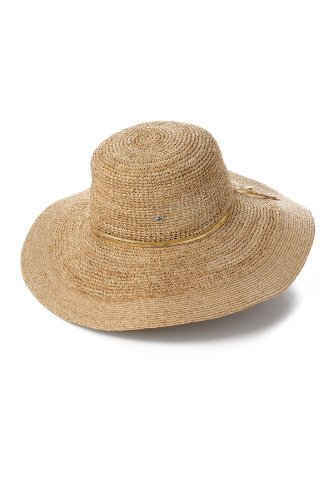 Flora Bella Women's Marie Crochet Metallic Hat, Natural/Gold, One Size by Flora Bella