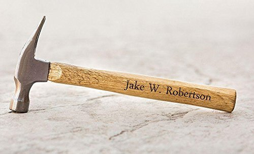 Personalized Engraved Hammer Fathers Day Gifts for Dads and Grandpa (Name)