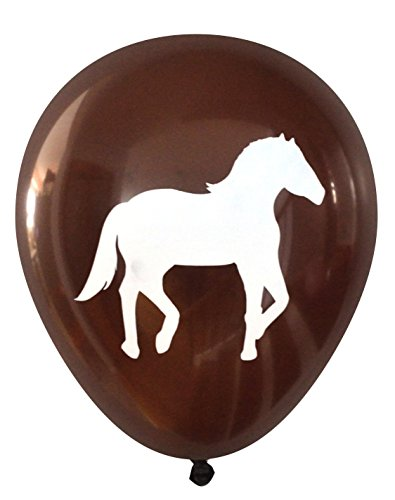Nerdy Words Horse Latex Balloons, 16 Count (Dark Brown) -